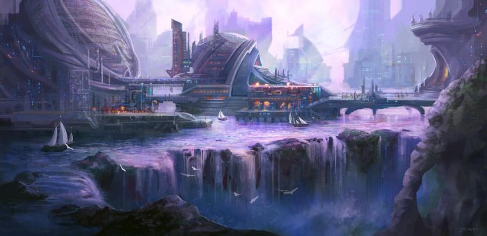 City on the water Concept by JoshCalloway