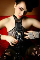 pinuplover and her rollei 02 by hollowone