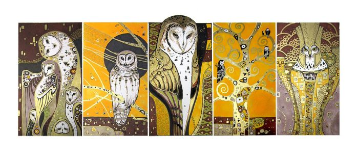Klimt owls by oione
