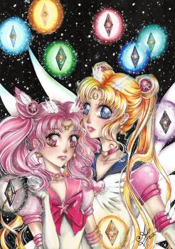 Sailor Moon - Star seeds by AlexandraFolgado