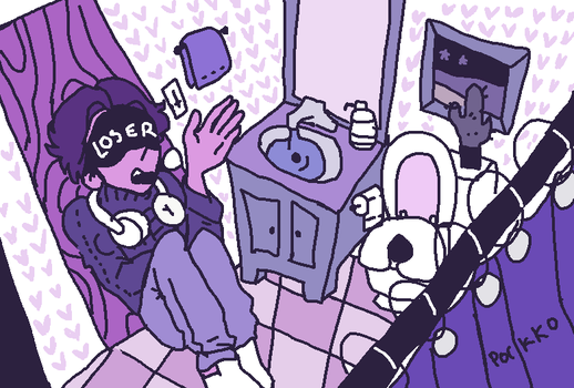 Michael In The Bathroom by porkko