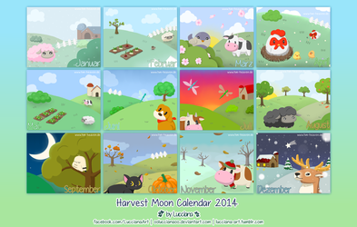 Harvest Moon Calendar by oOLuccianaOo