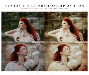 Photoshop vintage red action by meganjoy
