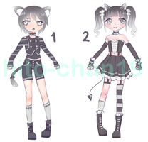 CLOSED - Monochromatic Adopt by tinyhito