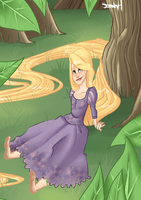 Tangled ~ Resting by Thesleepypencil