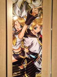 Rin and Len poster by xXDoughnut-HeartXx
