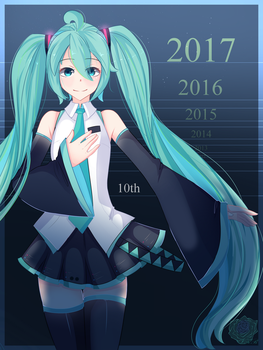 Hatsune Miku 10th! by Rouss-Black