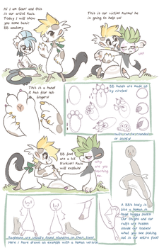 Basic Bagbean Anatomy with Sour and Kaia by griffsnuff