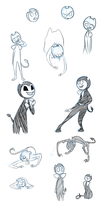Yet another Bendy doodledump by HerpaDerp6