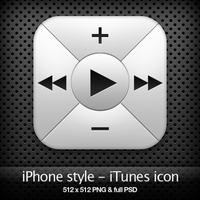 iPhone style - iTunes icon by YaroManzarek