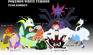 My Pokemon White team