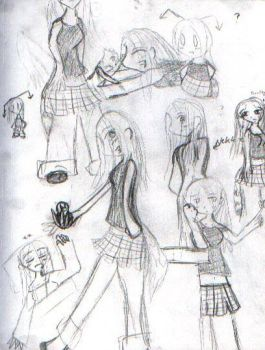 +_Sketches of me_+ by GuiltyOtaku
