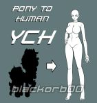 Pony to Human YCH OPEN by blackorb00