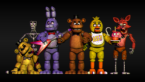 All of the FNAF1 Characters by AndyDatRaginPurro