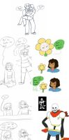 *takes an Undertale dump here* by Channydraws