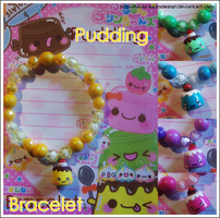 Puddings Bracelet by AyumiDesign