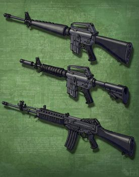 Assault Rifles (In the Cold) 2 by Hoborginc