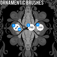Ornamentic Brushes - ABR + PNG by MartinSiilak