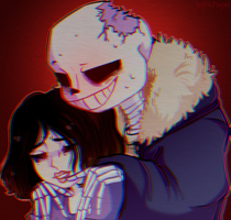 Horror Sans and Aliza , yea by JeffaPegas