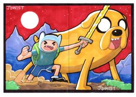 Adventure time Sketch cards by dadicus