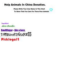save the animals in china by picklegal1