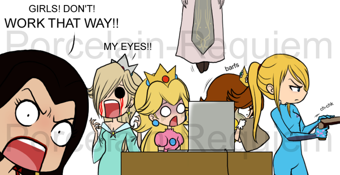 Nintendo Girls and the Fapboys by Porcelain-Requiem