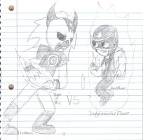 Fire Demon VS Dark Flame by artistic-Virgo