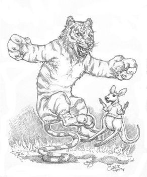 Tiger and Roo by CassieHenryArt