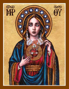 Immaculate Heart of Mary icon by Theophilia