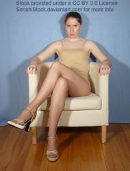Sitting Legs Crossed Pose for Drawing Reference by SenshiStock