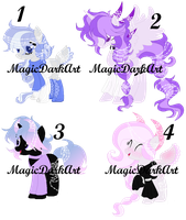 Horned Pixel Ponies Adoption *closed* by MagicDarkArt