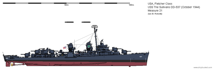 USS The Sullivans DD-537 (November 1944) - Ms21 by ColosseumSB