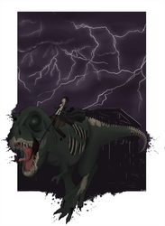 Sue The Zombie T-Rex by Rimfrost