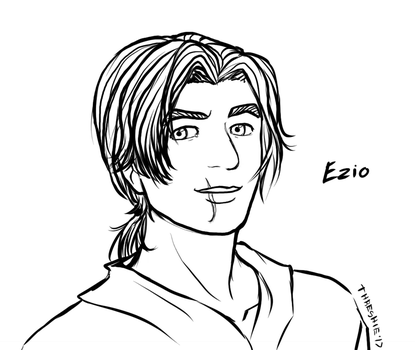 Ezio Sketch by Threshie