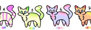 Colourful Kitty Adoptables [5 points] [OPEN] by caii-adopts