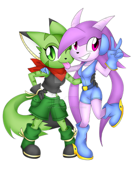 Lilac and Carol by Scarlet-Spectrum
