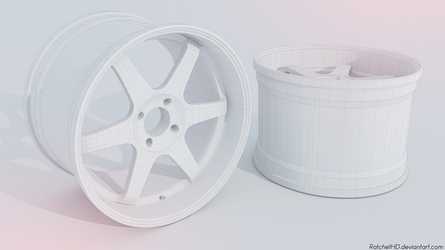 Volk racing rims - clay render by RatchetHD