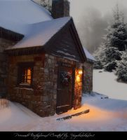 Christmas Cottage 2 by Virgolinedancer1 by VIRGOLINEDANCER1