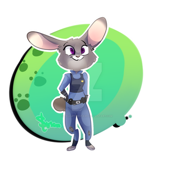 (Warm Up) Judy Hopps Sticker Design by ifellupthestairs