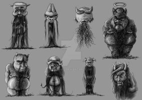 devil characters by bubumo