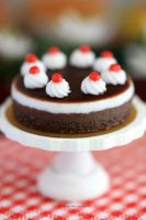 1:12 scale Black Forest Mousse Cake by Almadejonge