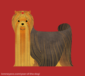 Year of the Dog - Yorkshire Terrier by Kelgrid