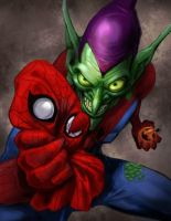 Goblin Spidey by pungang