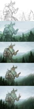 Steps of 'The Giant...' by Harkale-Linai