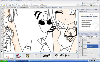 Darcy and Rai WIP by sango1fan