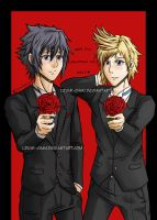 Happy FFXV Valentine's Day!! (Noctis and Prompto) by lzumi-chan