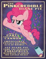 Pinkie Pie Party Cannon Circus Poster by tygerbug