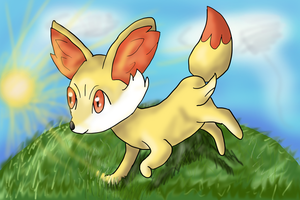 Fennekin - NEW - by Cinnamon-Quails