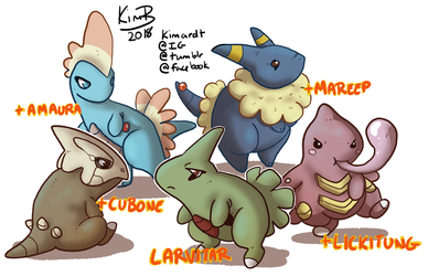 Larvitar Variants by phantos