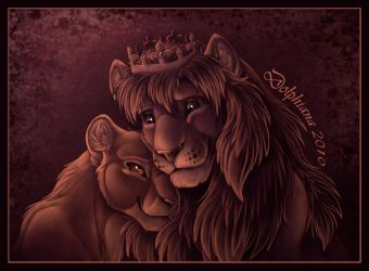 The King and his Queen by DolphyDolphiana